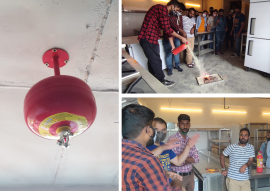 installed fire extingusiher and fire alarm system i n bangalore - Richboyz