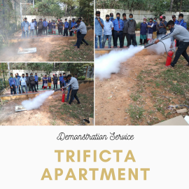 Demonstration service in trificta apartment